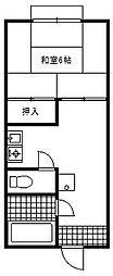 栄コーポ[203号室]の間取り