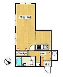 ニューキャッスル東戸塚[2階]の間取り