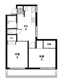 東京都世田谷区新町2丁目の賃貸マンションの間取り