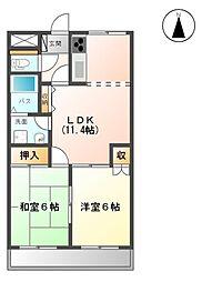 シャトーメゾン[2階]の間取り