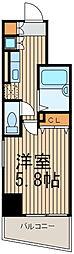 東京都大田区大森中1丁目の賃貸マンションの間取り