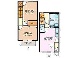 [テラスハウス] 三重県伊勢市河崎3丁目 の賃貸【/】の間取り