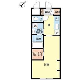 新潟県新潟市中央区古町通の賃貸アパートの間取り