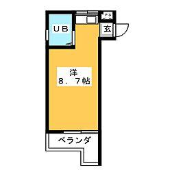 三松ハイツ[3階]の間取り