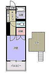 福岡県北九州市小倉南区富士見1丁目の賃貸アパートの間取り