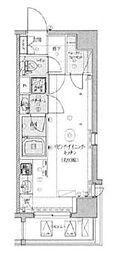 LEXE TOKYO NORTH II 5階ワンルームの間取り