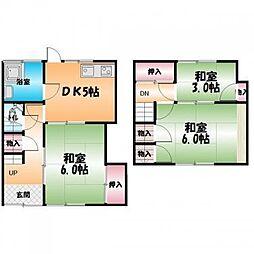 [一戸建] 徳島県徳島市北田宮4丁目 の賃貸【/】の間取り