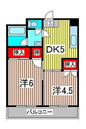 蕨フィールドスターマンション[6階]の間取り