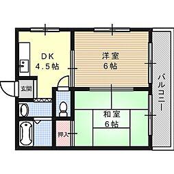 ピュアハイツ[1階]の間取り