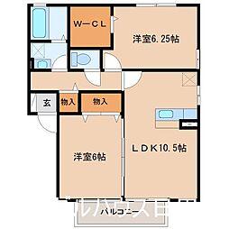 ラガーズK  B棟[2階]の間取り