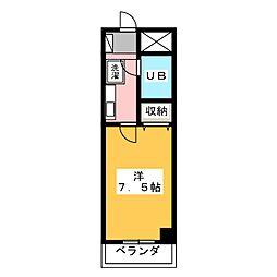 高崎レックス鞘町[4階]の間取り