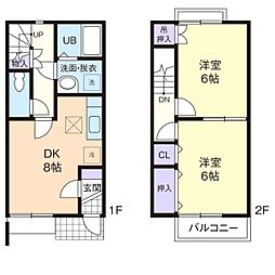 COMFORT YAMAHISA A[2階]の間取り