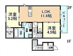 (新築)D-roomみのり[202号室号室]の間取り