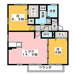ラ・ソレイユA棟[2階]の間取り
