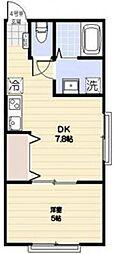 千葉県市川市本北方2丁目の賃貸アパートの間取り