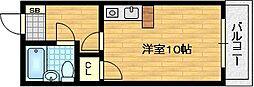 ジョイフル宇治[1階]の間取り