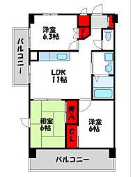 アトラス新宮[3階]の間取り