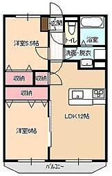 エールガーデン桜[102号室]の間取り