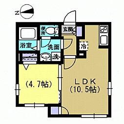 Alba[103号室]の間取り