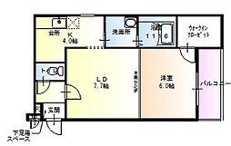 クロワール別宮[2階]の間取り
