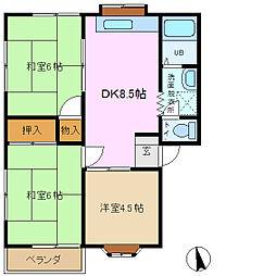 アレード赤坂[1階]の間取り