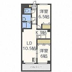KINSEI[3階]の間取り