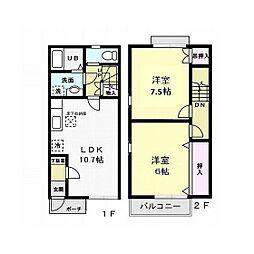 AZUR III[2階]の間取り