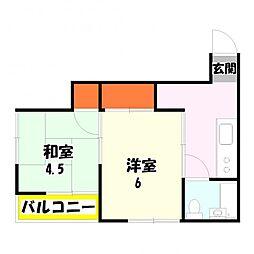東京都足立区竹の塚7丁目の賃貸マンションの間取り