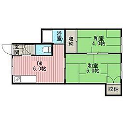 ハウスモリエール[2階]の間取り