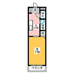 アーバンシティ上浅田[4階]の間取り