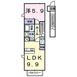 インフィニティ・Y[2階]の間取り