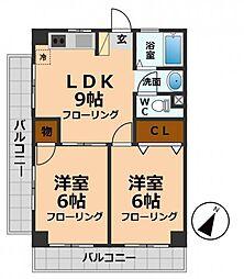 東京都杉並区高井戸西2丁目の賃貸マンションの間取り