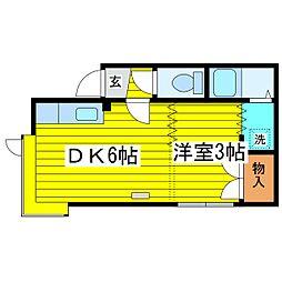 北海道札幌市東区北十八条東17丁目の賃貸アパートの間取り