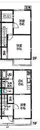 [テラスハウス] 東京都東大和市清水6丁目 の賃貸【東京都 / 東大和市】の間取り