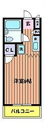 立川プラザー[3階]の間取り