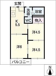 メイゾン木戸[2階]の間取り
