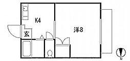 広島県広島市東区矢賀新町2丁目の賃貸マンションの間取り
