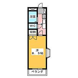 第7田畑ハイツ[2階]の間取り