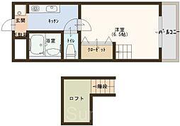 オクト白鷺[3階]の間取り