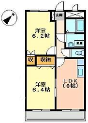 エポック21[102号室]の間取り