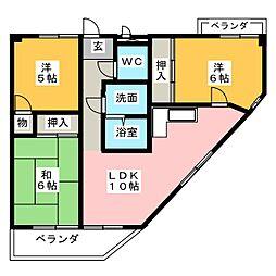 GREEN HILLS[3階]の間取り