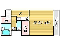 東京都豊島区要町2丁目の賃貸マンションの間取り