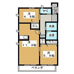 ラ フィギェ I[2階]の間取り