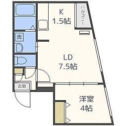 ラフィーネ南円山[1階]の間取り