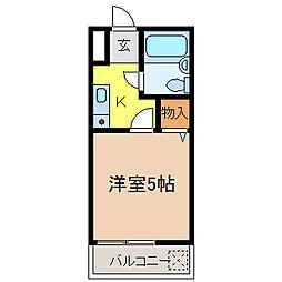 ハイツタキタニI[202号室]の間取り