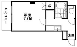プチロアール[407号室]の間取り