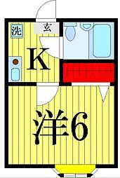 綾瀬ピースベルS・[2階]の間取り