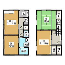 [一戸建] 青森県青森市金沢3丁目 の賃貸【青森県 / 青森市】の間取り