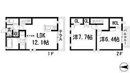 [テラスハウス] 兵庫県宝塚市口谷西2丁目 の賃貸【/】の間取り