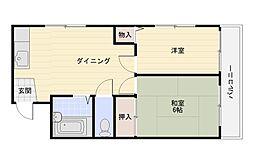 メゾンかせの[2階]の間取り
